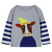 Baby Box Baby Boys' kids Toddler long sleeve cattle T-Shirts