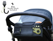 Stroller Organiser By Bekoru Travel - The must-have stroller accessory. Keep all your essentials easy to reach. Fits all major strollers. Easy to use. High quality.