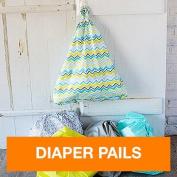 FuzziBunz Hanging Nappy Pail Tote Bags, Chevron