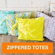 FuzziBunz Zippered Tote Bags, Calypso