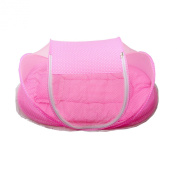 Acediscoabll Foldable Baby Cot Bed Mosquito Bug Net Mattress Pillow Tent Pink