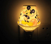 A.Shine Lovely Mickey Mouse Cartoon Small Ceramic Night Light NightLight for Children Kids Bedroom Decoration