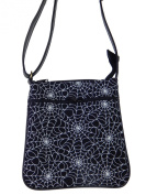 "US HANDMADE FASHION CROSS BODY ""SPIDER WEB"" PATTERN SHOULDER BAG WITH ADJUSTABLE HANDLES, COTTON, NEW, CSOP 5287"