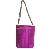 Purple Embroidered Evening Bag with Beads and Mirrors by Sitara Collections®