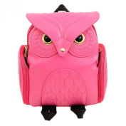 Donalworld Women Cartoon Backpack Cute Owl School Manmade Leathr Shoulder Bag
