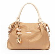 Hynbase Women's Korean Style Fashion High Capacity Brand Totes Handbag Shoulder Bags for Lady