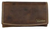 Large Brown Strong Leather Wallet Pedro Whole Made of Natural Genuine Leather