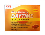 CVS Non-Drowsy Daytime Sinus Relief with Acetaminophen 325mg (DayQuil) - 16 softgels