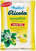 Ricola Lemon Mint Sugar Free Ricola 19 Lozenges Per Bag