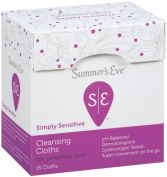 Summer's Eve Cleansing Cloth Simply Sensitive, 16 Count