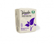 Veeda - Ultra Thin Pads with Wings - Natural Cotton - 14 Count - Pack of 3