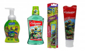 Colgate Power Toothbrush, Teenage Mutant Ninja Turtles + Colgate Ninja Turtles Toothpaste 140ml + Colgate Mouthwash Bubble Fruit - 500ml + Softsoap Ninja Turtles Foaming Hand Soap