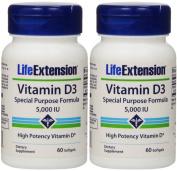 Vitamin D3 5000 Iu Life Extension 60 Softgel X 2