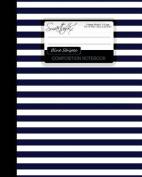 Blue Stripes Composition Notebook