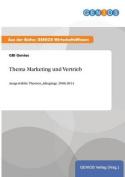 Thema Marketing Und Vertrieb [GER]
