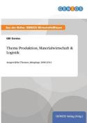 Thema Produktion, Materialwirtschaft & Logistik [GER]