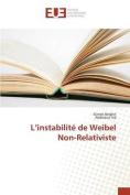 L'Instabilite de Weibel Non-Relativiste [FRE]