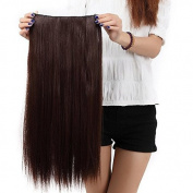 "Sexy Forever 30""(76cm) Straight Medium Brown Hairpiece 3/4 Full Head One Piece 5 Clips Clip In Hair Extensions Elegant Useful for Gifts"