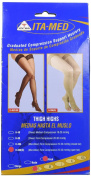 ITA-MED H-306(O) Open Toe Thigh Highs, Compression (25-35 mmHg), Black, Small