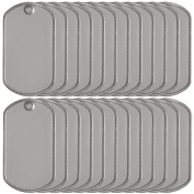 Military Dog Tags Stainless Steel Matte Finish 25 Count