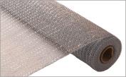 Poly Deco Mesh Decorative Mesh 50cm x 10 yds (9.1m) Silver Geo Mesh Ribbon