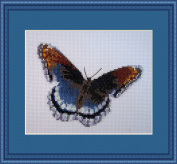 Royal Blue Mariposa Counted Cross Stitch Kit By Orcraphics