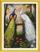 Dimensions Needle Crafts Counted Cross Stich Hand Made 14CT The forest peacock D381 Spring)