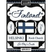 Scrapbook Customs - World Collection - Finland - Cardstock Stickers - Discover