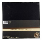 Cardstock Paper, 30cm x 30cm in Black by Recollections
