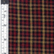 Textile Creations 1204 Rustic Woven Fabric, 0.12 Cheque Black, Khaki And Wine, 15 yd.
