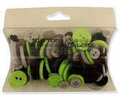 Buttons Galore Colour Blend Buttons, 90ml, Grey/Black/Lime