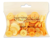 Buttons Galore CB103 Colour Blend Buttons, 90ml, Mango Madness, 3 Shades of Mango