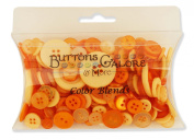 Buttons Galore CB100 Colour Blend Buttons, 90ml, Tangerine Tango, 3 Shades of Orange
