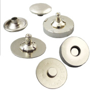 """Bluemoona 20 Sets - 18mm 3/4"""" Magnetic snaps purse Double Rivet closures Round Clasp Stud Button Bag Leather Nickel"""