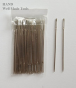 "No.T57 A Pack of Appx 30 Pcs Easy to Thread Extra Large Opening Hand Sewing Needles- 6cm/2.7"", Get the Deal!"