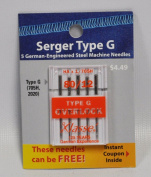 Klasse Serger Type G Overlock Size 80/12 Needles 5 Pack