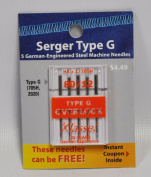 Klasse Serger Type G Overlock Size 80/12 Needles 5 Pack