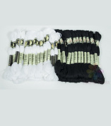 New ThreadNanny Black and White Embroidery Cross Stitch Threads Floss/skeins 24 of each colour