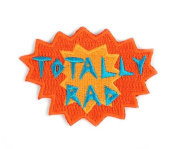 Totally Rad Summer Embroidered Sew or Iron-on Backing Patch