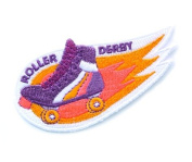Roller Derby Embroidered Sew or Iron-on Backing Patch