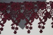 Altotux 11cm 12 Colour Dangling Embroidered Floral Venice Lace Trim Guipure By Yd