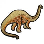 Brachiosaurus Dinosaur Cartoon Iron on Patch