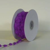 25 Yards Fuzzy Pom Pom Wired Trim Ribbon Lace - Purple