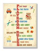 The Kids Room by Stupell Typography, Playroom Rules Acrostic