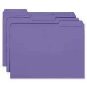 Smead Interior File Folder, 1/3-Cut Tab, Letter Size, Purple, 100 per Box