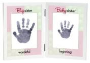 The Grandparent Gift Co. Sweet Somethings Handprint Frame, Big Sister/Baby Sister