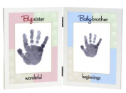 The Grandparent Gift Co. Sweet Somethings Handprint Frame, Big Sister/Baby Brother