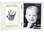 The Grandparent Gift Co. Sweet Somethings Handprint Frame, Grandma/Grandpa