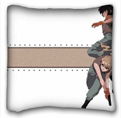 Custom Cotton & Polyester Soft Anime Pillowcase Cover 41cm x 41cm One Side suitable for Twin-bed