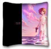 Custom Cotton & Polyester Soft Anime Pillowcase Cushion Cover Design Standard Size 41cm x 41cm One Sides suitable for Twin-bed